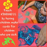 Teaching Kids Kindness by Making Cards for Sick Children #playfulpreschool