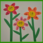 Ending Word Sounds Flower Activity
