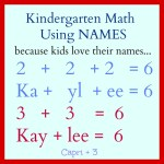 Fun Kindergarten Math Activities Using Their Names