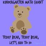 Teddy Bear, Teddy Bear, Let's Add to Ten-Kinder and Pre-K Math activity
