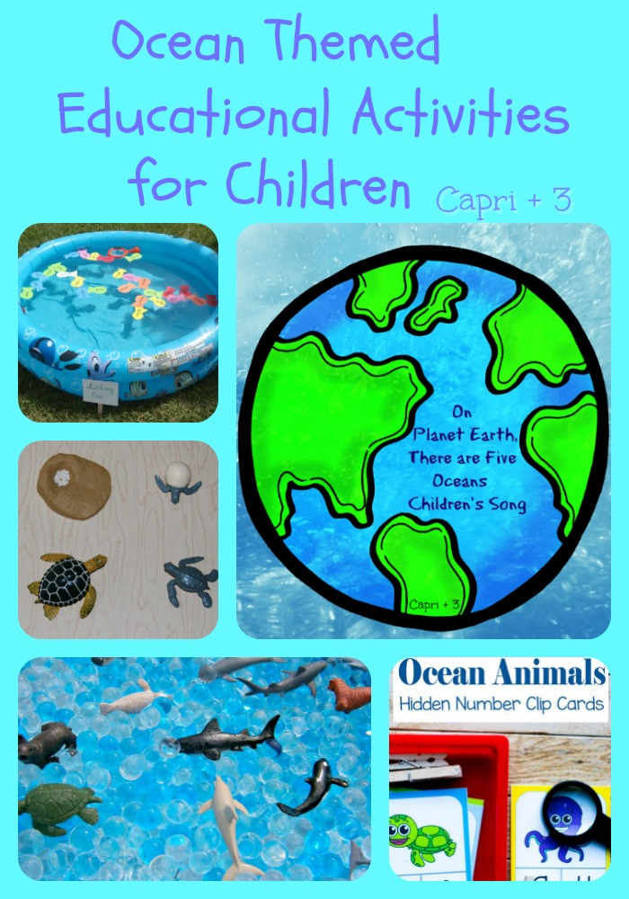 Here are some Ocean Themed Educational Activities for Children to enjoy!