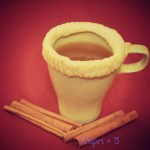 Slow Cooker Hot Apple Cider With a Crispy Pie Crust Edged Mug