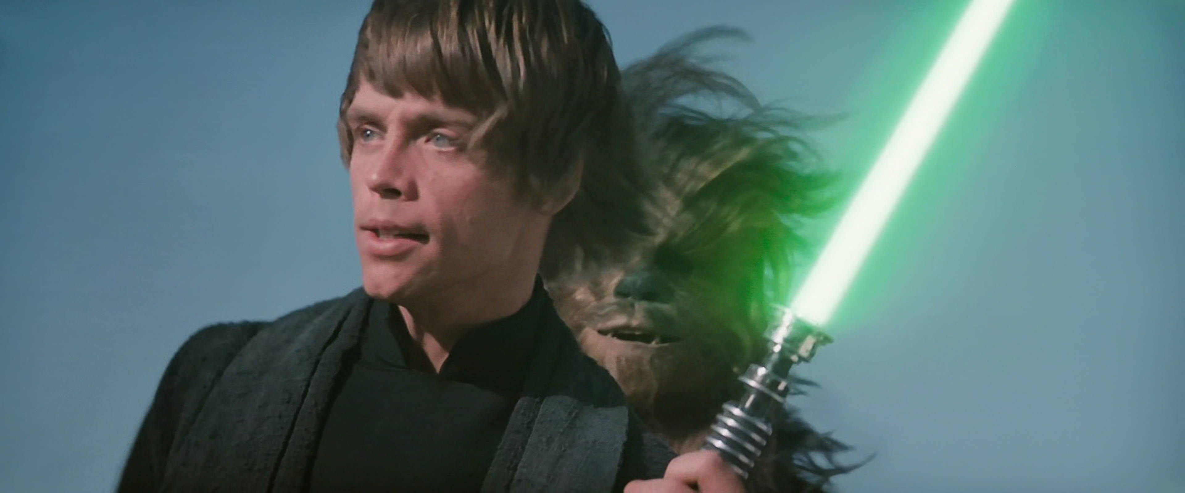 Luke Sail Barge Green Lightsaber Return of the Jedi | kessel korner