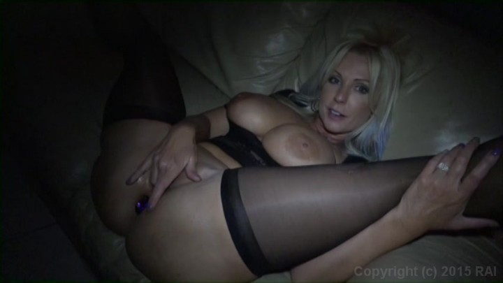 Busty Blonde Woman Naughty Alysha Sucks and Fucks Cock