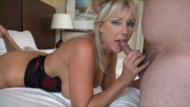 Beautiful MILF Naughty Alysha Fucks a Lucky Fan on a Huge Bed