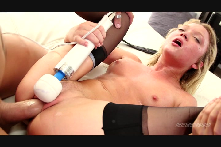 Pretty Blonde Doll Dakota Uses a Vibe and Takes His Big Dick at the Same Time Starring: Xander Corvus Dakota