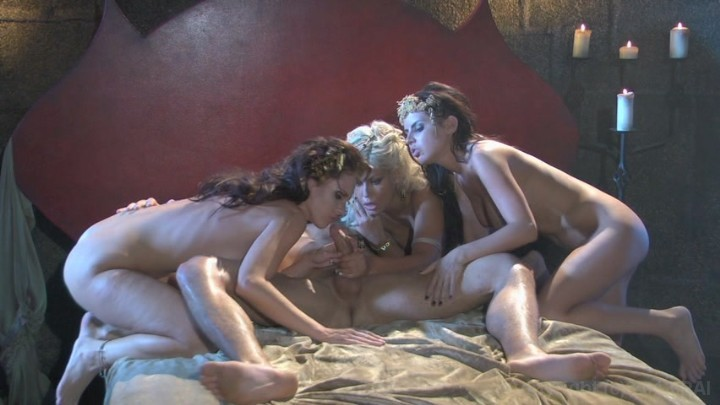 Three Sexy Babes Share a Cock Starring: Jennifer Dark Bridgette B. Brandy Aniston Ryan Driller Length: 24 min