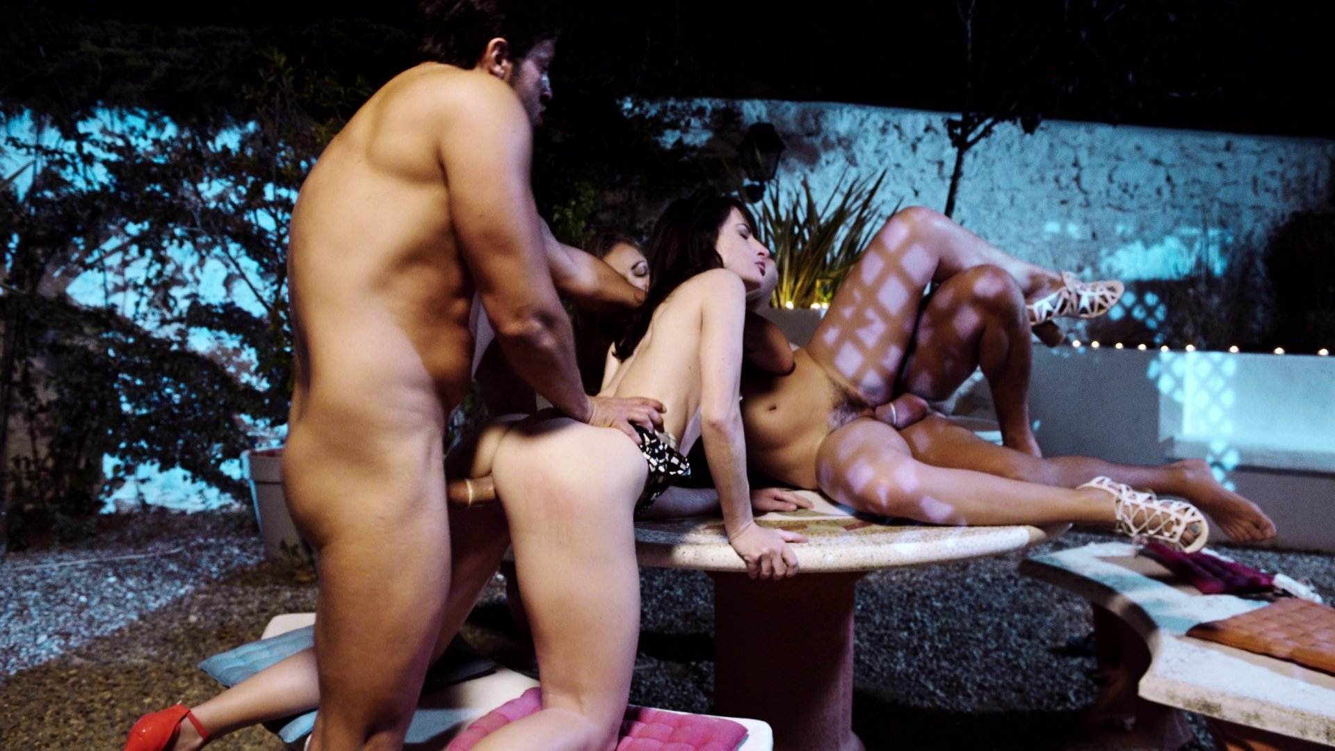 Two Beautiful Babes Enjoy Multiple Cocks Starring:  George Uhl  Dani Daniels  Ava Courcelles  Nick Moreno  Juan Lucho