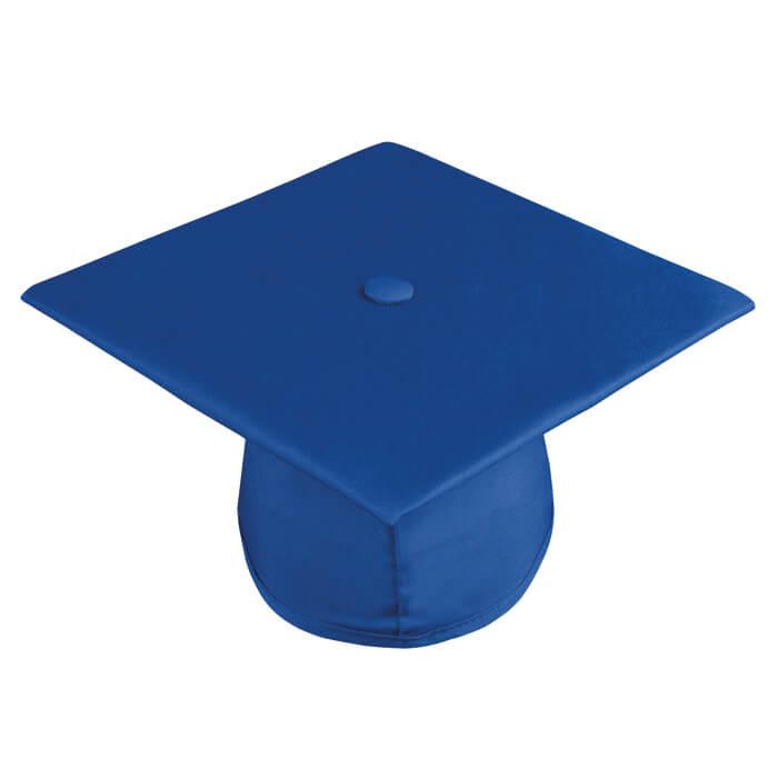 graduation cap royal blue