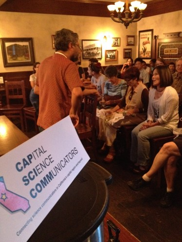 Guest speaker Professor Madhusudan Katti of Fresno State meets the crowd.