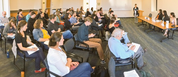 """Full house at our CapSciComm Professional Development Workshop """"Science and Scientists Informing Public Policy in California""""."""