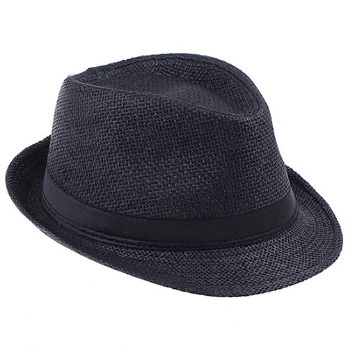 526b2a6d360 2016 Fashion Summer Straw Men s Sun Hats Fedora Trilby Gangster Cap Summer  Beach Cap Panama Hat Sombrero Travel Sunhat 15