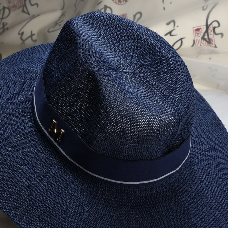 2016 New Maison Michel Straw Hats Wide Brim M Letter Summer Hat Women  Chapeu Jazz Trilby Bowler Summer Hats For Women cbe7c7d60e4
