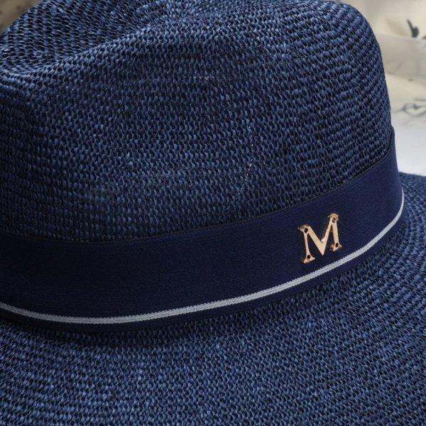 New Maison Michel Straw Hats Wide Brim M Letter Summer Hat Women Chapeu Jazz Trilby Bowler Summer Hats For Women 6
