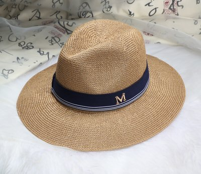 2016 New Maison Michel Straw Hats Wide Brim M Letter Summer Hat Women  Chapeu Jazz Trilby Bowler Summer Hats For Women 7e0eeedbc92