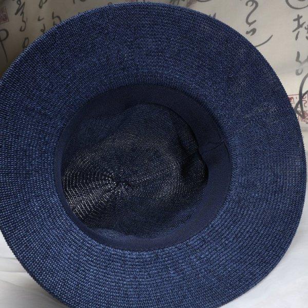 New Maison Michel Straw Hats Wide Brim M Letter Summer Hat Women Chapeu Jazz Trilby Bowler Summer Hats For Women 10
