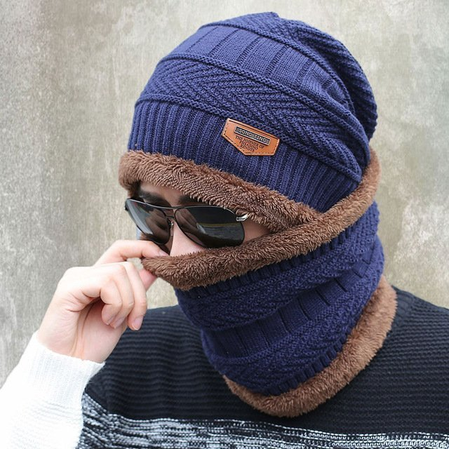 b3ee51cf9b7 2016 new knitted hat fashion Beanies Knit Men s Winter Hat Caps Skullies  Bonnet For Men Women Beanie Casual Warm Baggy Bouncy