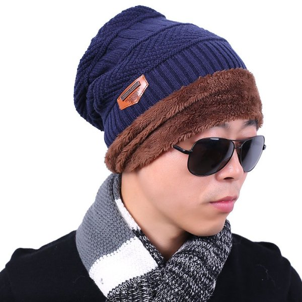 new knitted hat fashion Beanies Knit Men's Winter Hat Caps Skullies Bonnet  For Men Women Beanie Casual Warm Baggy Bouncy 3
