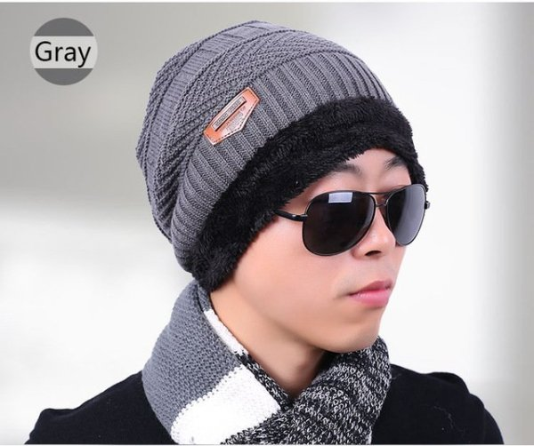 new knitted hat fashion Beanies Knit Men's Winter Hat Caps Skullies Bonnet  For Men Women Beanie Casual Warm Baggy Bouncy 9