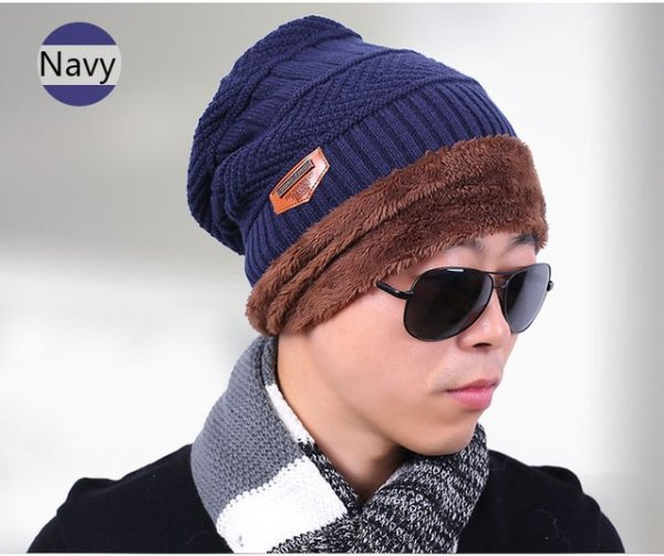 new knitted hat fashion Beanies Knit Men's Winter Hat Caps Skullies Bonnet  For Men Women Beanie Casual Warm Baggy Bouncy 12