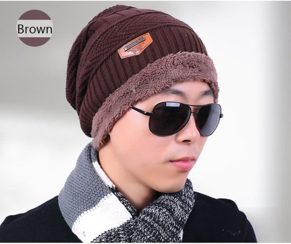 new knitted hat fashion Beanies Knit Men's Winter Hat Caps Skullies Bonnet  For Men Women Beanie Casual Warm Baggy Bouncy 13