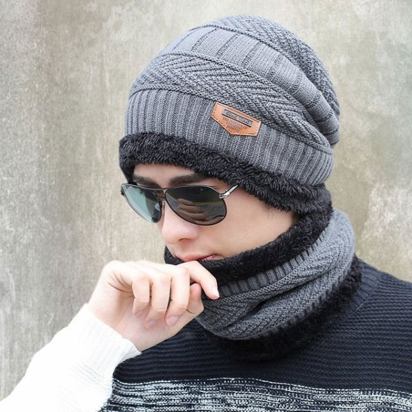 new knitted hat fashion Beanies Knit Men's Winter Hat Caps Skullies Bonnet  For Men Women Beanie Casual Warm Baggy Bouncy 7