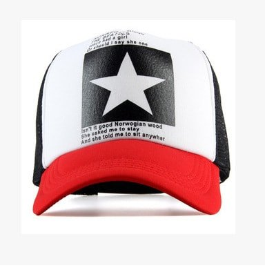 New Five-pointed Big Star Pattern Mesh Baseball cap 7