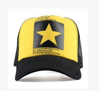 New Five-pointed Big Star Pattern Mesh Baseball cap 8