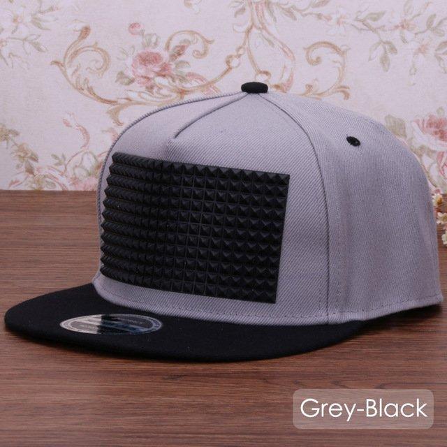 5db4292e 3D snapback cap raised soft silicon square pyramid flat baseball cap ...