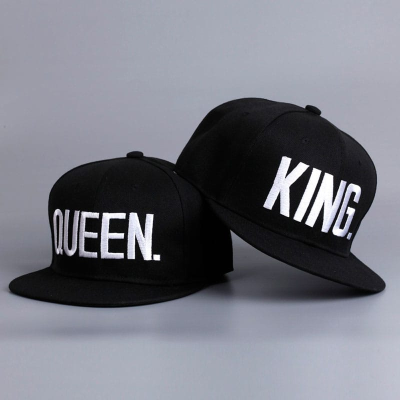 Fashion KING QUEEN Hip Hop Baseball Caps Embroider Letter Couples Lovers  Adjustable Snapback Sun Hats for Men Women KH981562 fbf7bea53500