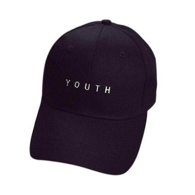 New Fashion Adult baseball Cap Cotton Caps Women Youth Letter Solid ... f7027ac2784