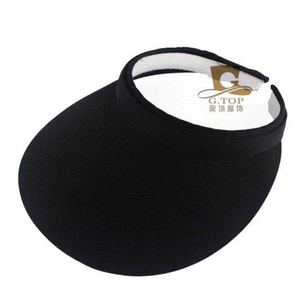 Unisex  Clip-On Visor sun Hat Summer Cotton topless sports golf cap 8