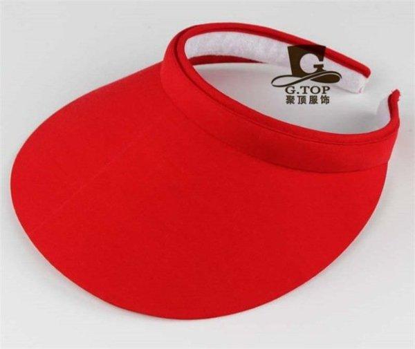 Unisex  Clip-On Visor sun Hat Summer Cotton topless sports golf cap 9