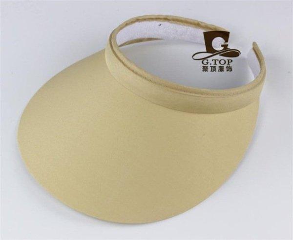 Unisex  Clip-On Visor sun Hat Summer Cotton topless sports golf cap 11