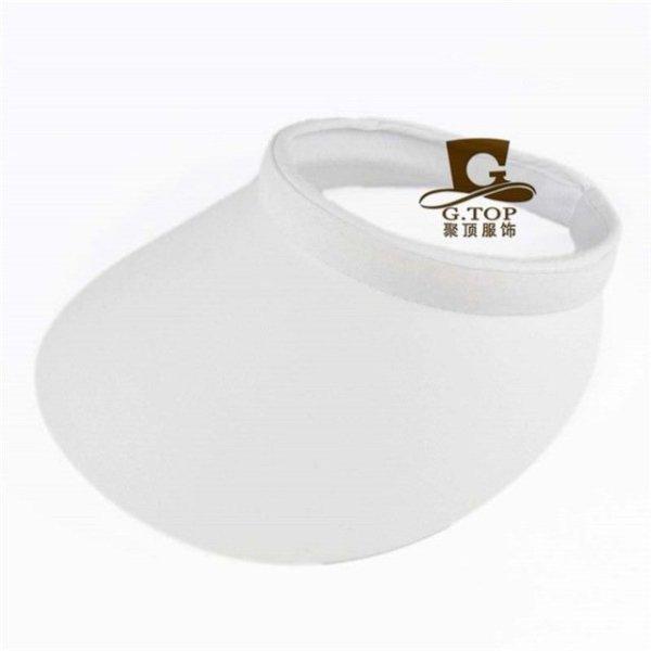 Unisex  Clip-On Visor sun Hat Summer Cotton topless sports golf cap 7