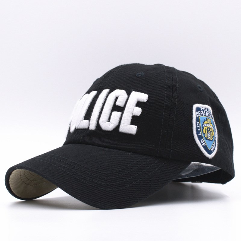 bd1935051d5 11 Colors Kids High Quality Cotton Police Baseball Caps for Boys ...