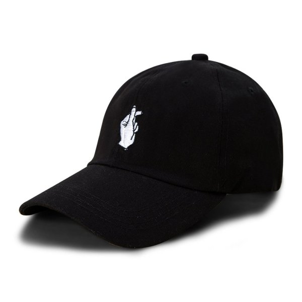 New Arrival Love Gesture Finger Embroider Golf Baseball Cap men women snapback hat Flipper Little Heart Love Sun Truck Hat 2