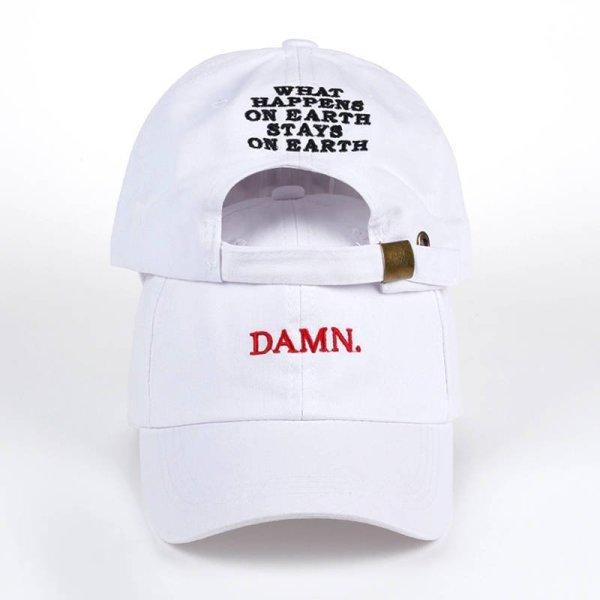 new wine red kendrick lamar damn cap embroidery DAMN. unstructured dad hat bone women men the rapper baseball cap 4
