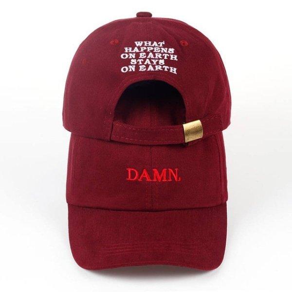 new wine red kendrick lamar damn cap embroidery DAMN. unstructured dad hat bone women men the rapper baseball cap 18