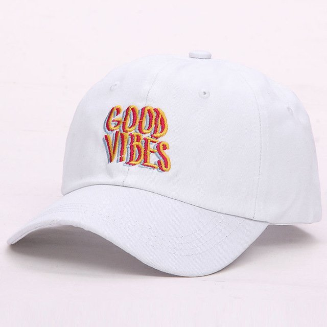 0ac9e2098d5 2017 new men women Good Vibes Dad Hat Embroidered Baseball Cap Curved Bill  100% Cotton Casquette Brand Bone Fashion Hats