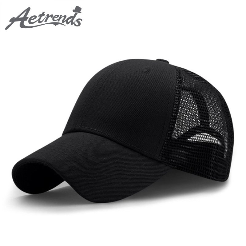63564c8bbee  AETRENDS  2018 New Summer Sport Mesh Baseball Caps Men or Women Outdoor  Snapback ...