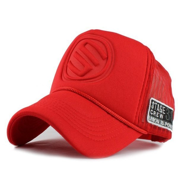 FETSBUY Summer Male And Female Trucker Hats Fitted Casual Hip-hop Street Mesh Hat Casquette Cap Unisex Print Baseball Caps 9