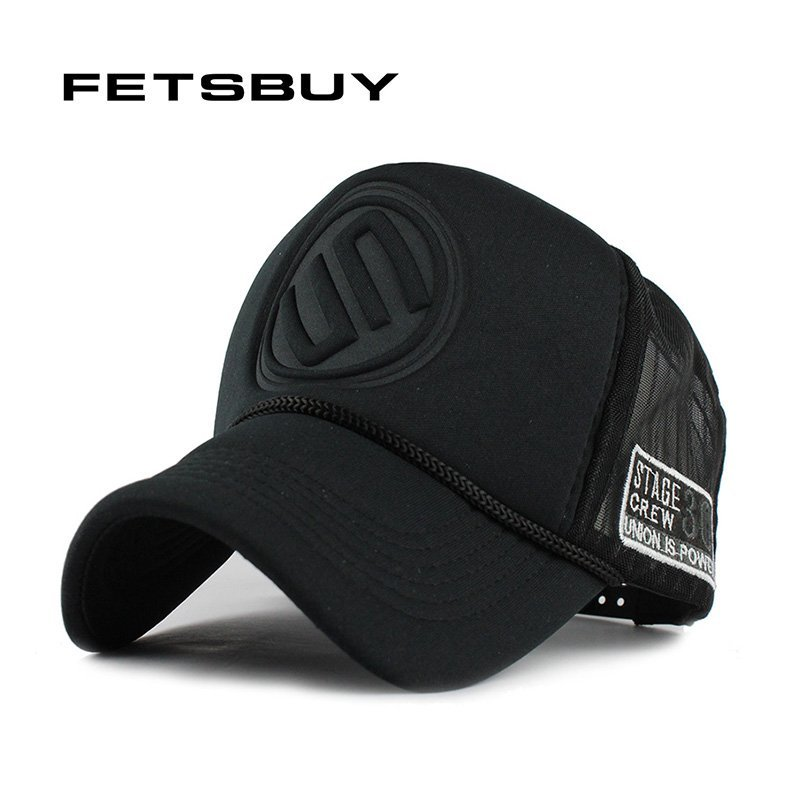 e6d0c828c14 FETSBUY Summer Male And Female Trucker Hats Fitted Casual Hip-hop Street  Mesh Hat Casquette Cap Unisex Print Baseball Caps
