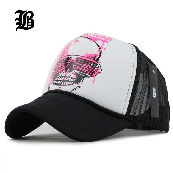 [FLB] 12 Styles Unisex Acrylic 5 panels Adjustable Baseball Cap Summer mesh caps Snapback Baseball Cap Men Fitted Hats Caps 1