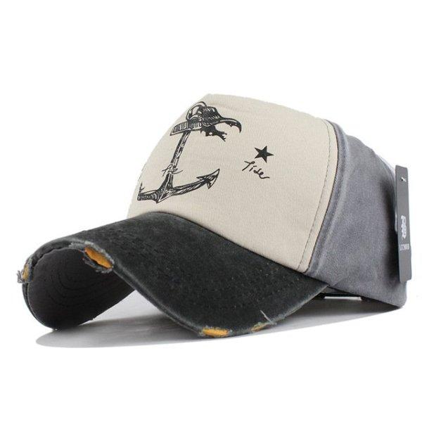 [FLB] 5 panel hip hop snapback hats couples hat Man Woman pure cotton baseball caps do old pirate ship anchor gorras wash cap 8