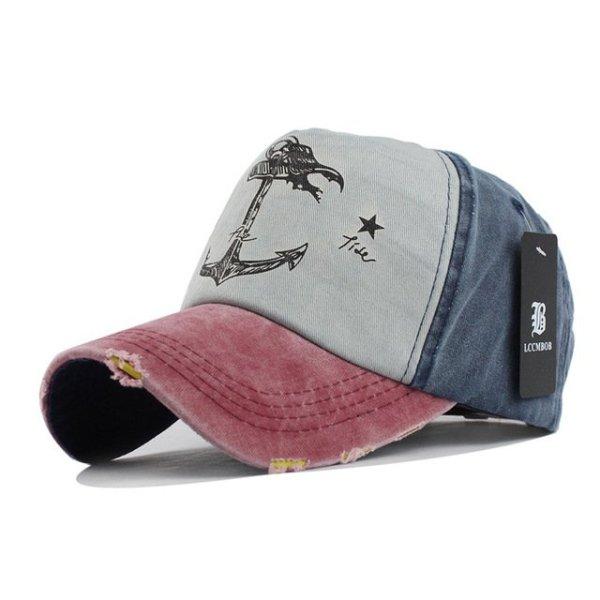 [FLB] 5 panel hip hop snapback hats couples hat Man Woman pure cotton baseball caps do old pirate ship anchor gorras wash cap 13