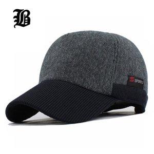 9c46917da02  FLB  Warm Winter Thickened Baseball Cap Men S Cotton Hat Snapback Winter  Hats Ear Flaps For Men Women Hat Wholesale F240