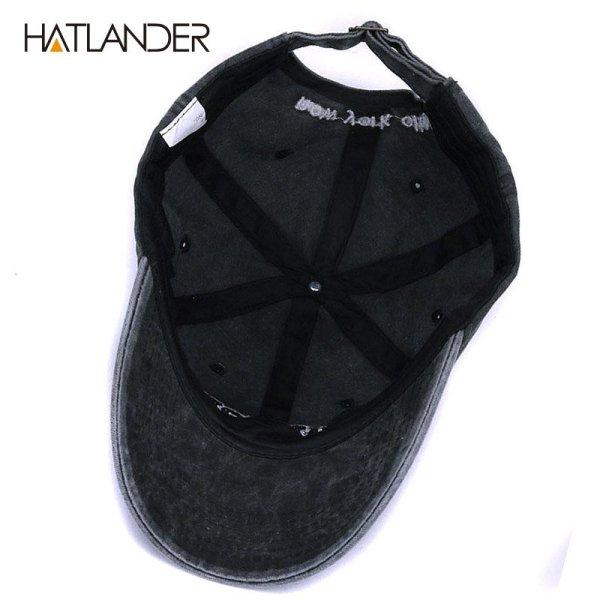 [HATLANDER]Sand washed 100% cotton baseball cap hat for women men vintage dad hat NEW YORK embroidery letter outdoor sports caps 5