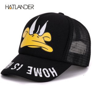 d38cce7bf88 Hatlander cute children baseball caps baby girls sun visor hats boys  snapback casquette gorras cartoon duck kids summer mesh cap