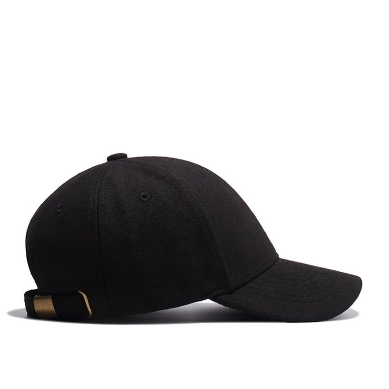 High Quality Solid Winter Baseball Cap Men Bone Trucker Hat Gorras ... dc23853bab1